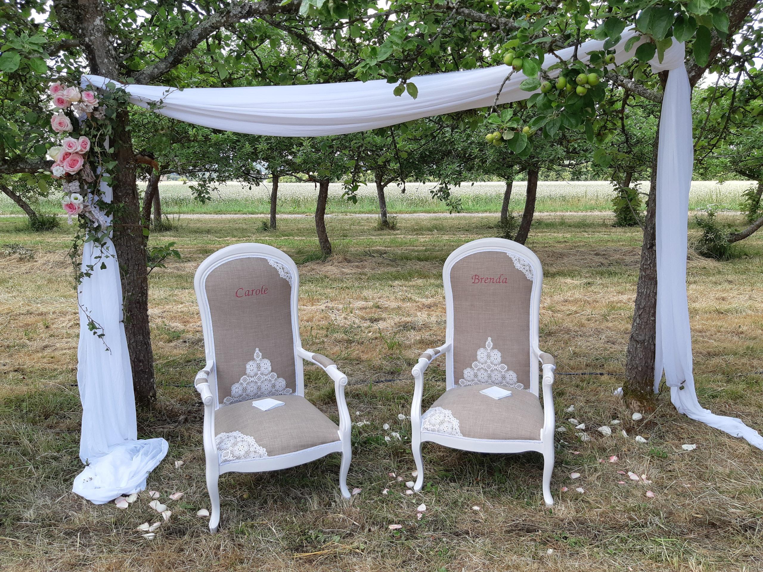 Cérémonie laïque dans un verger normand - Wedding designer normandie