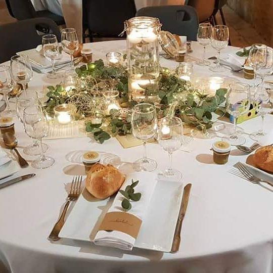 Scénographie de mariages végétal