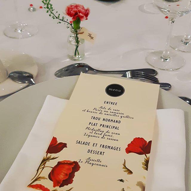 papeterie de mariage - menu sur-mesure - scénographie de mariages La Marjolaine Mayenne