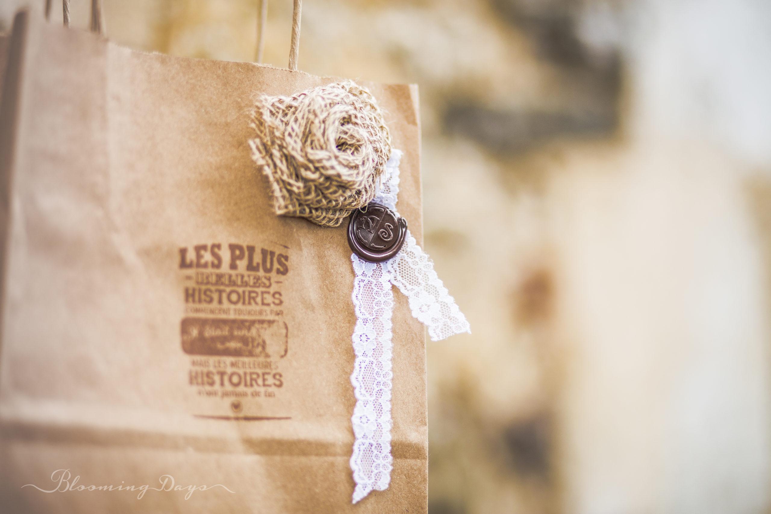 Welcome bag / cadeaux invités / decoration de mariage Normandie