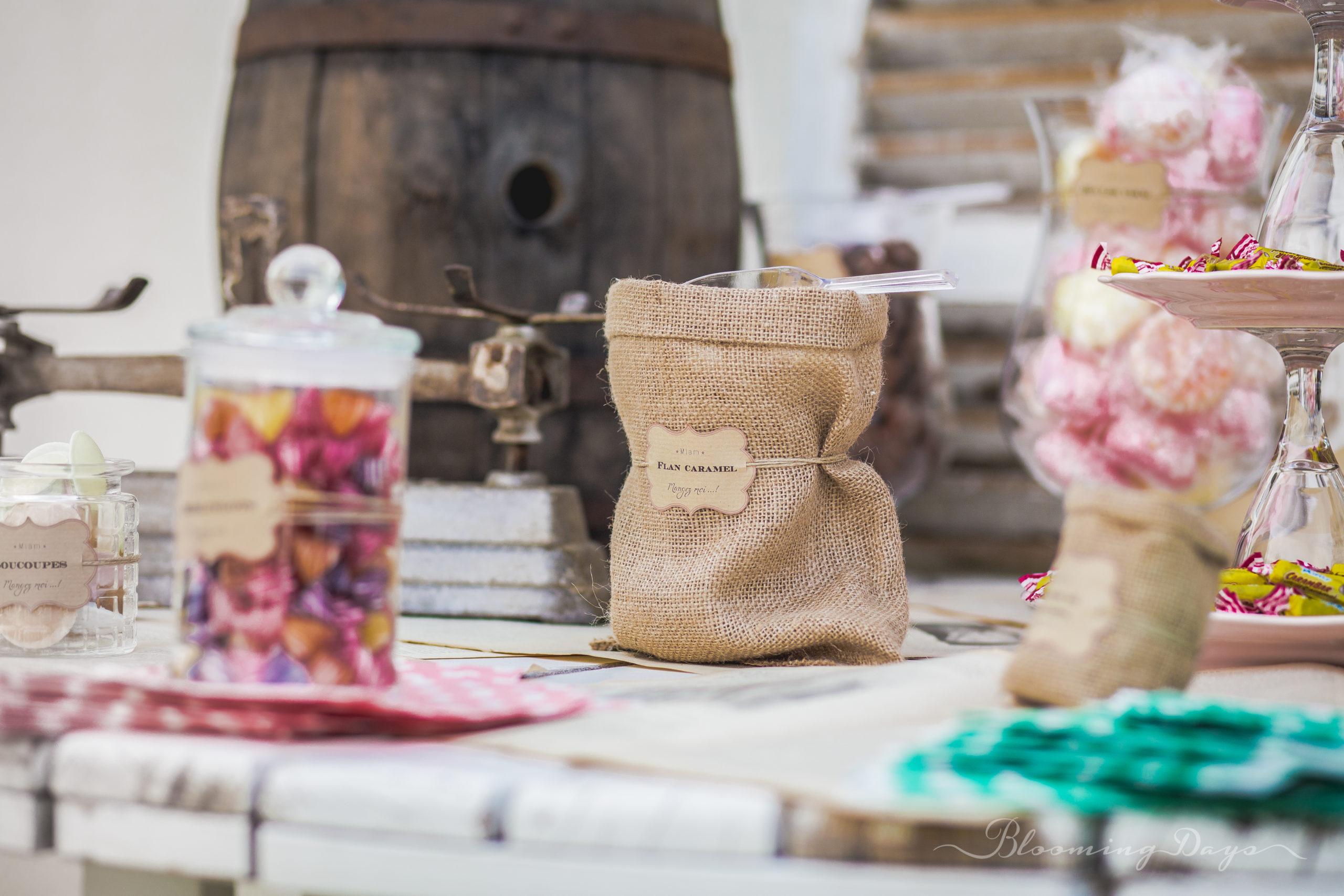 Candy bar vintage - decoration de mariage Normandie - Falaise