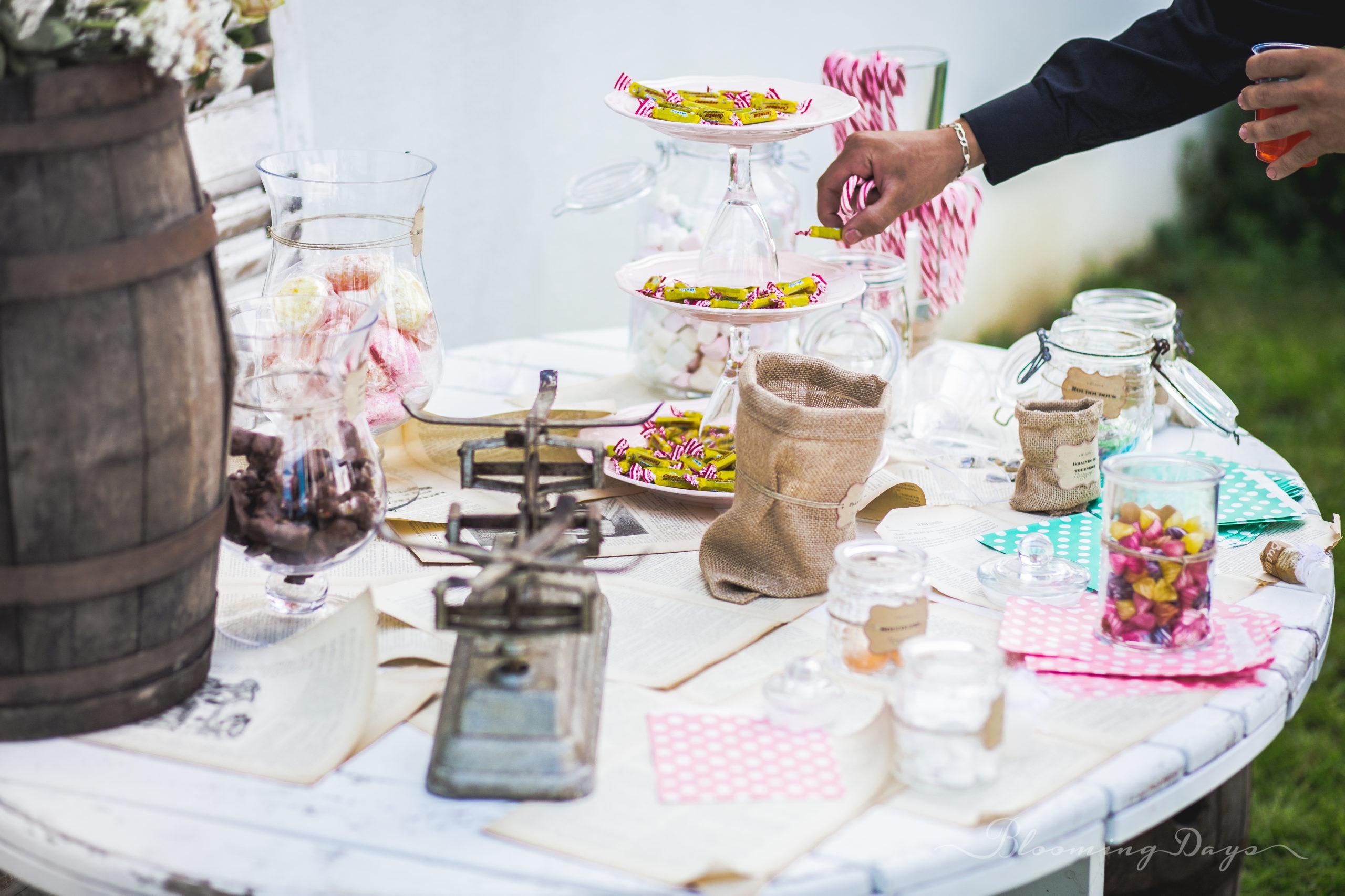 candy bar / decoration de mariage Normandie / domaine de cauvicourt