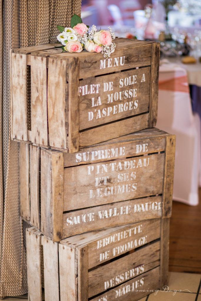 menu de mariage / decoration de mariage Normandie