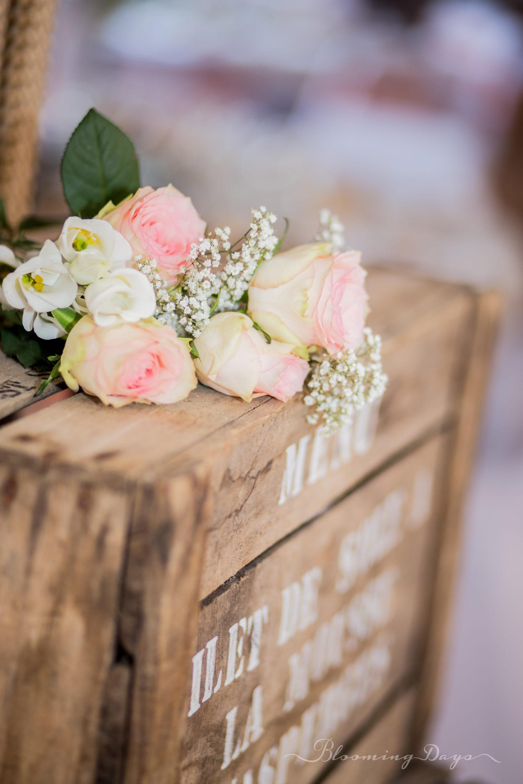 détails et fleurs - decoration de mariage Normandie - Falaise