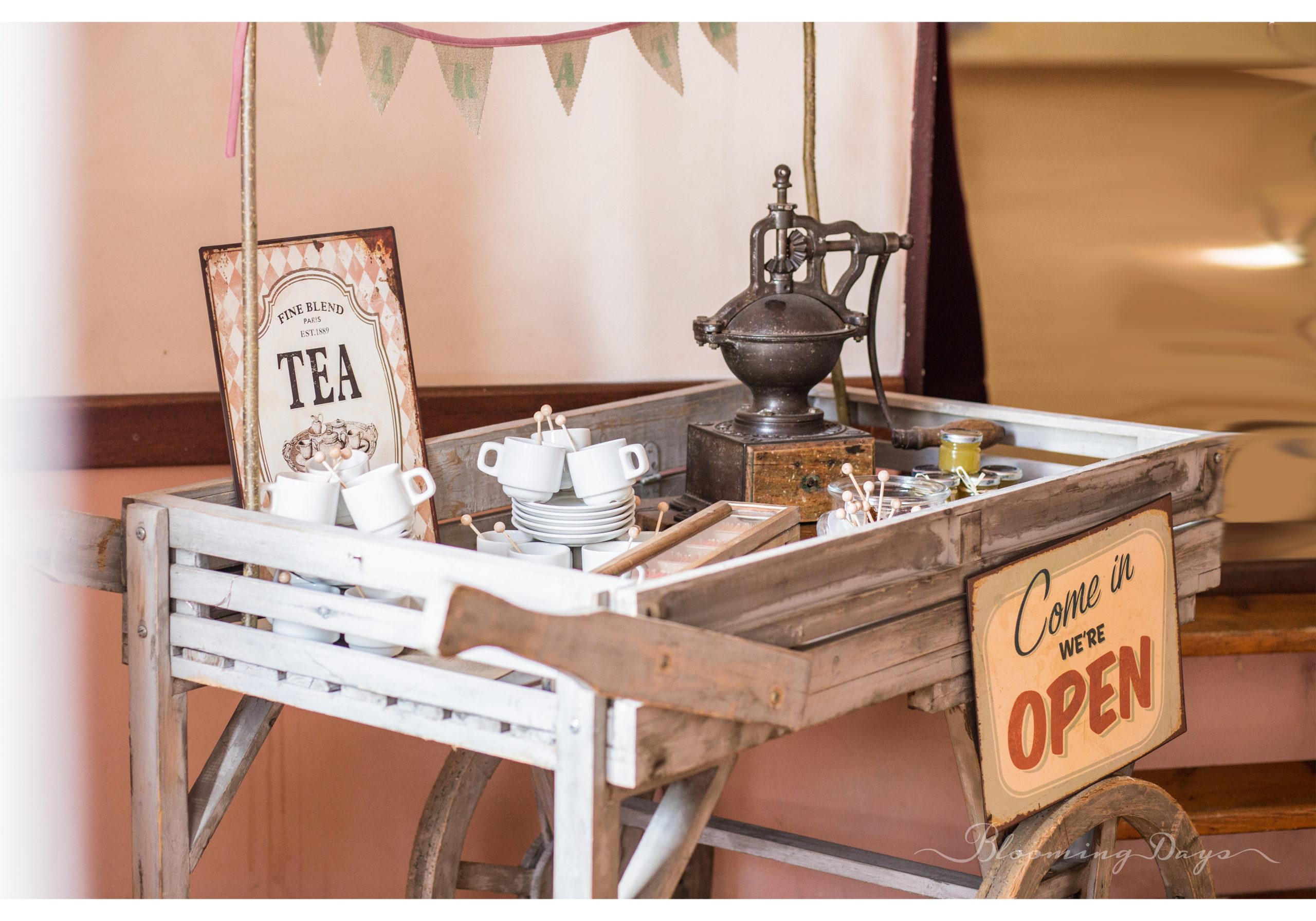 bar à thés / decoration de mariage Normandie
