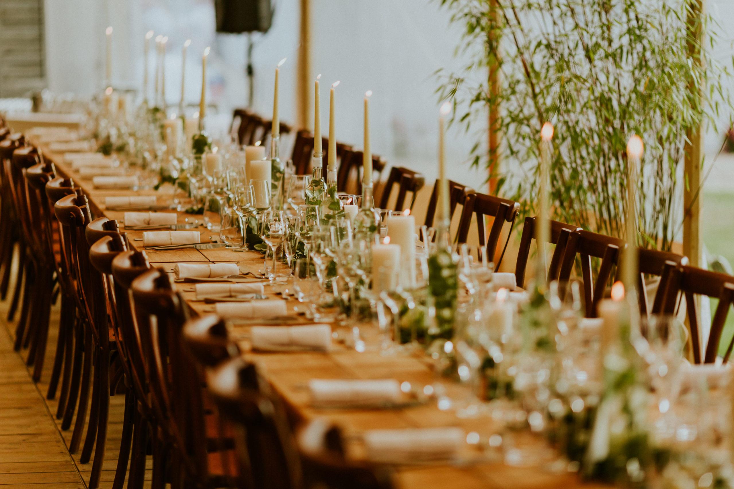 prestation decoration table de mariage - CREDIT PHOTO : Nicolas Desvage