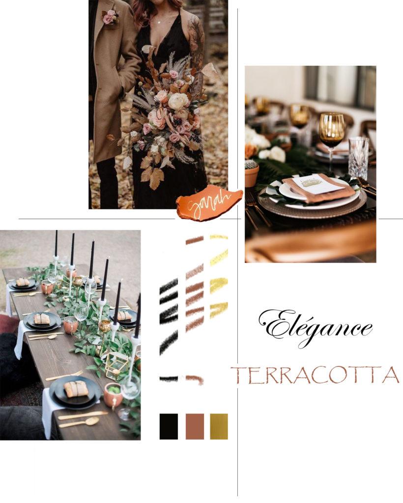 ELEGANCE TERRACOTTA PLANCHE INSPIRATION MARIAGE
