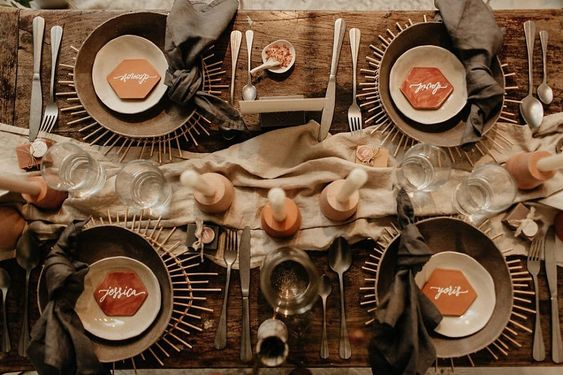 idée décoration de mariage bohème blog