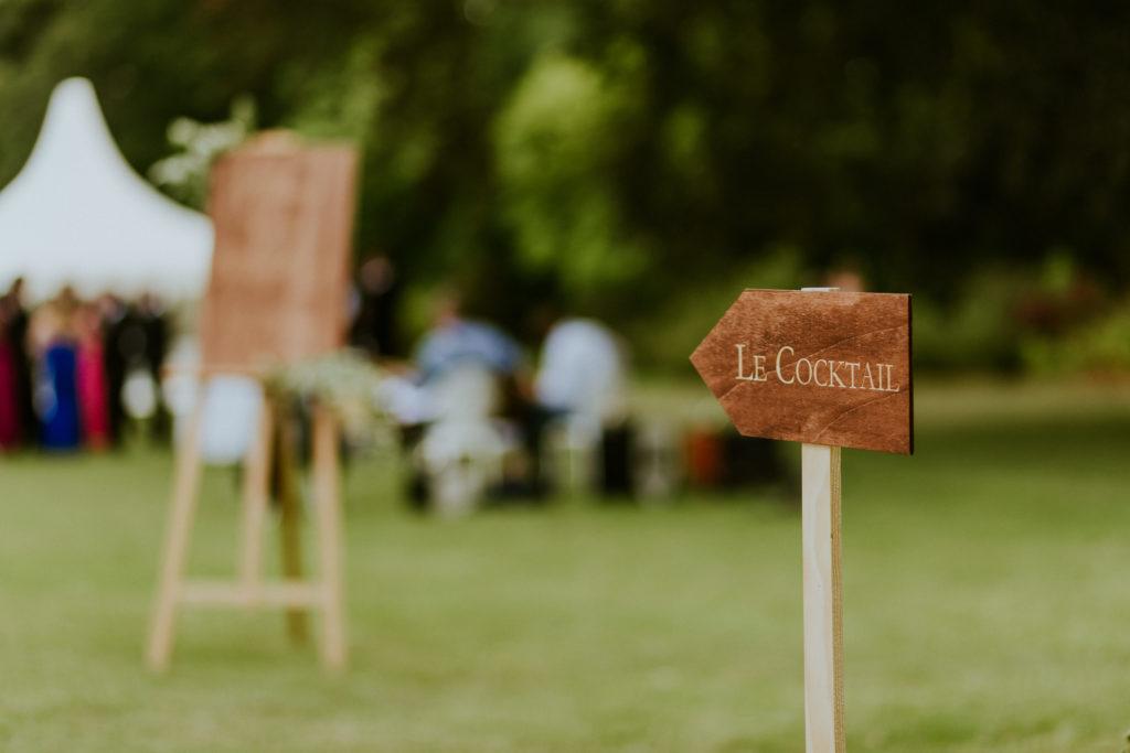 signalétique cocktail décoration de mariage calvados
