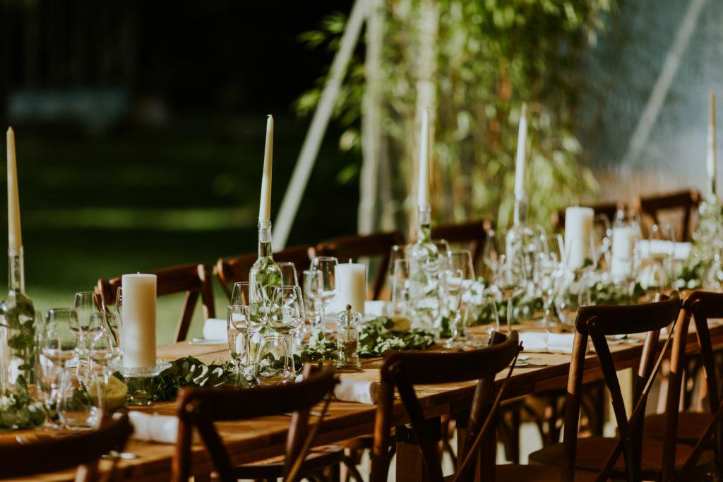 Scénographie table de mariage champêtre en Normandie Calvados, Orne, Manche, Mayenne