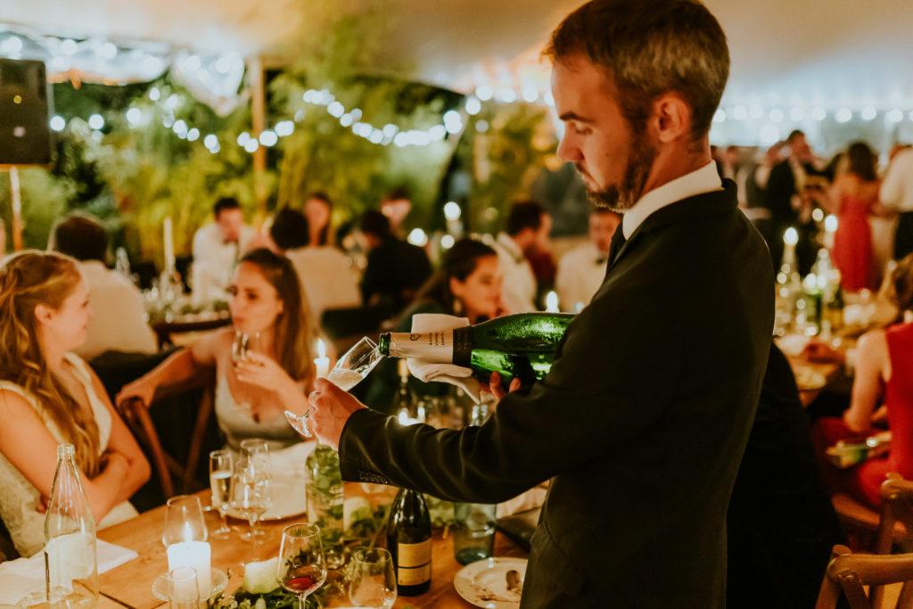 Diner mariage Normandie champagne