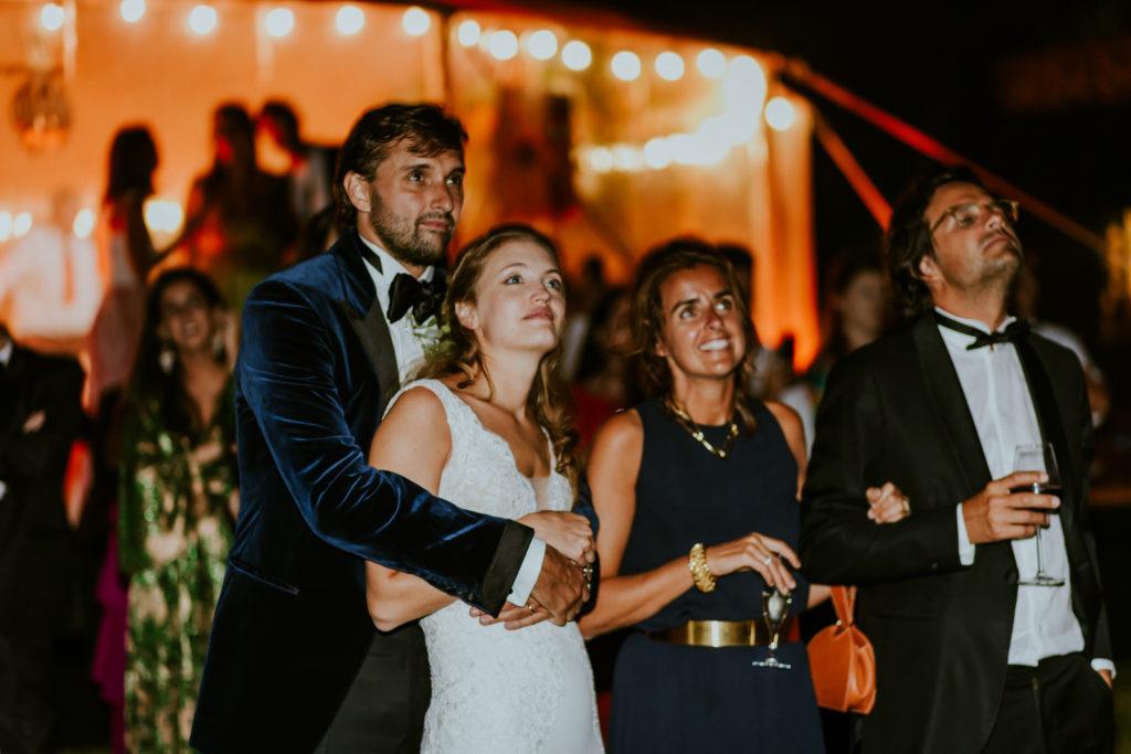 Mariage haut de gamme feu d'artifice