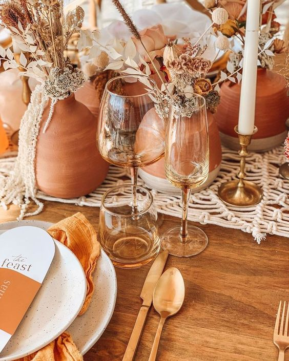 inspiration table de mariage terracotta
