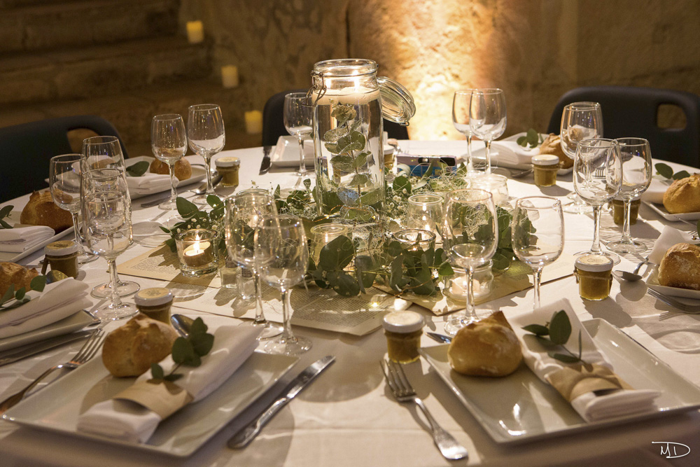 décoration de table de mariage Normandie - Chateau de Creully - CREDIT PHOTO : Mauha