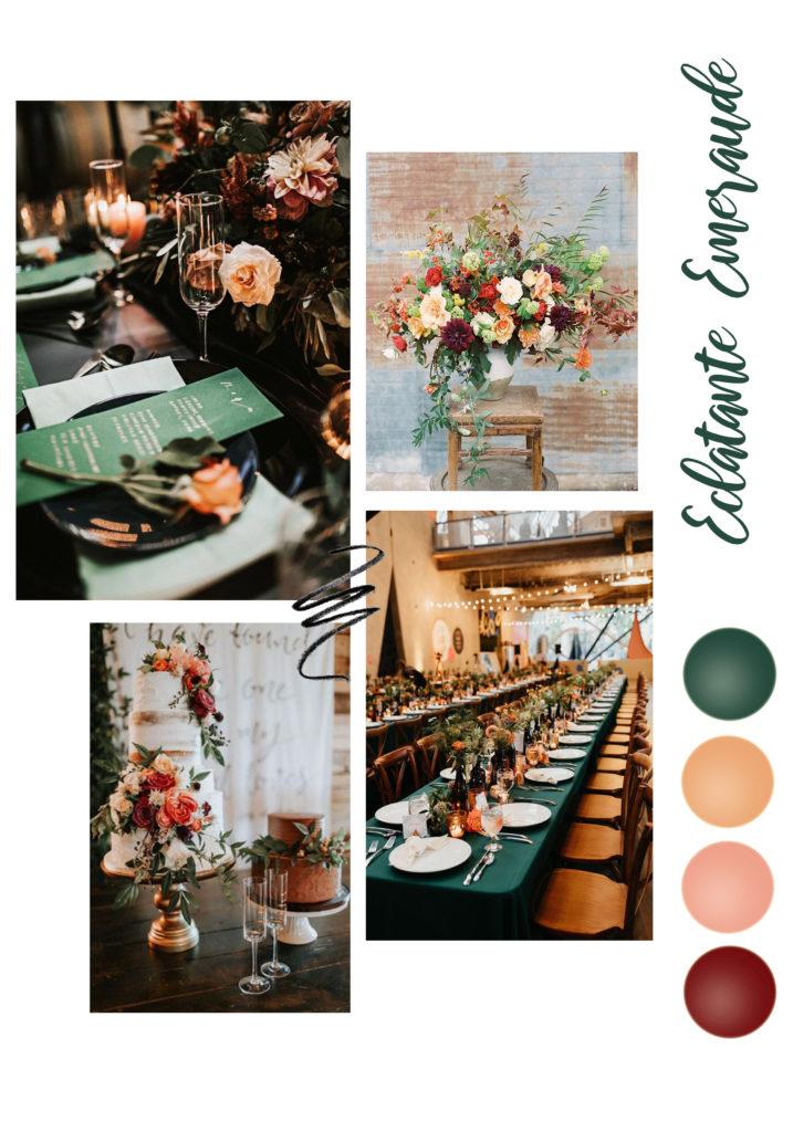 vert émeraude décoration de mariage