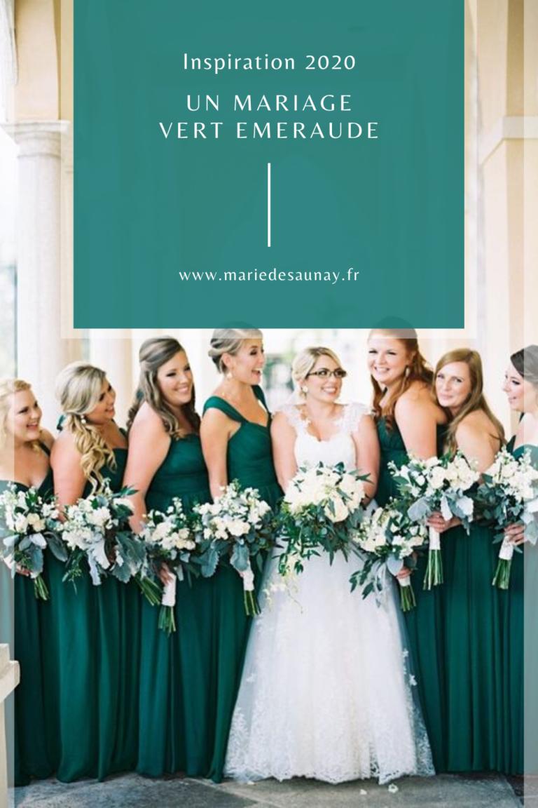 vert émeraude mariage colorimétrie