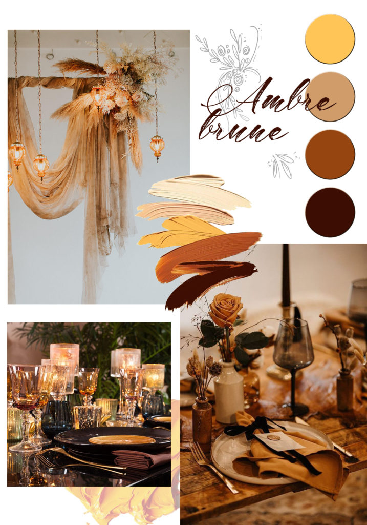 moodboard mariage inspiration ambre