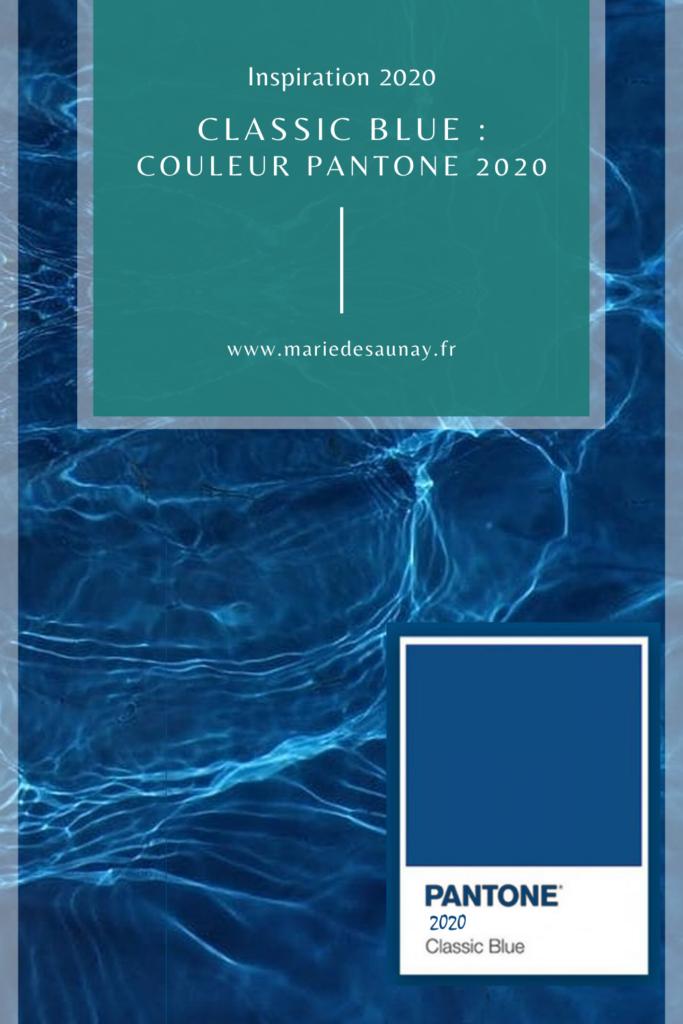 La couleur Pantone de l'année devient en quelques sortes la référence. Pour 2020, il s'agit d'une teinte saturée de bleu : le classic blue.