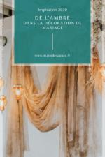 décoration mariage colorimétrie ambre
