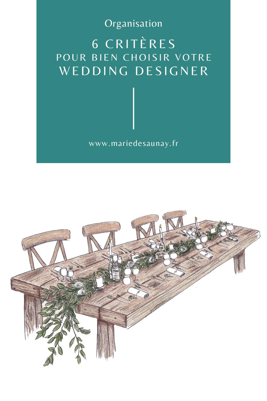 6 critères pour bien choisir votre wedding designer