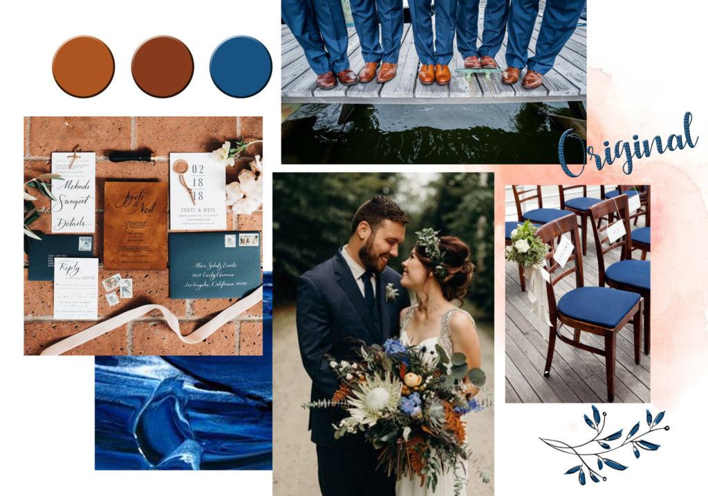 decoratrice-de-mariage-normandie-caen-colorimetrie-palette-colorée-original-bleu-et-camel-tendance-2020