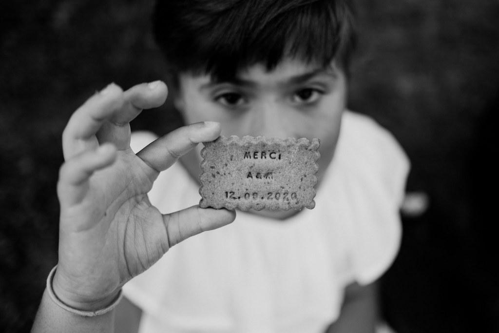 biscuit offert aux invités, personnalisé - Shanty biscuit