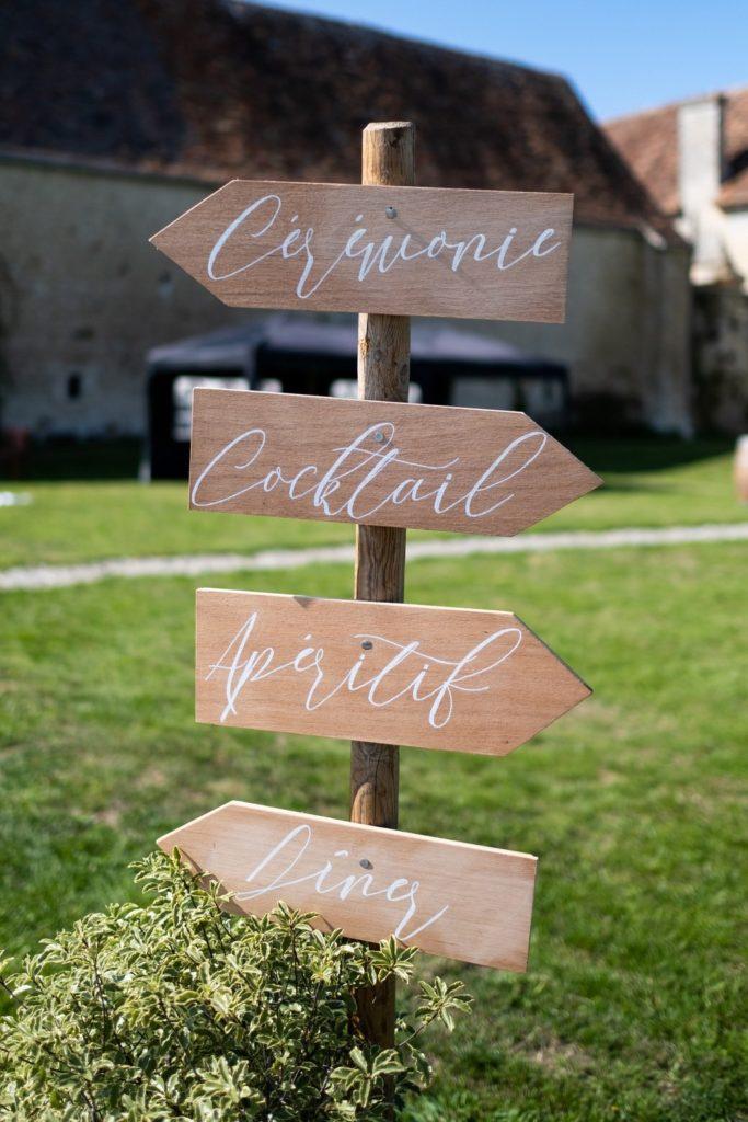 panneau directionnel en bois - allier l'utile à l'esthétique!