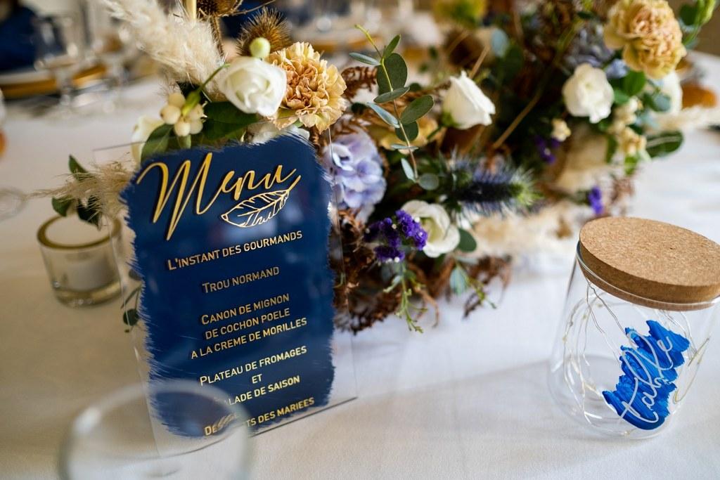 menu et numero de table mariage
