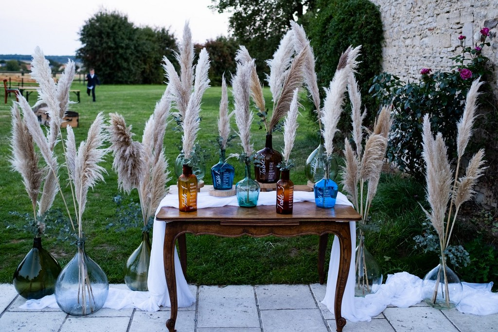 plan de table mariage esprit boheme dame jeanne pampa - CREDIT PHOTO : Audrey Guyon