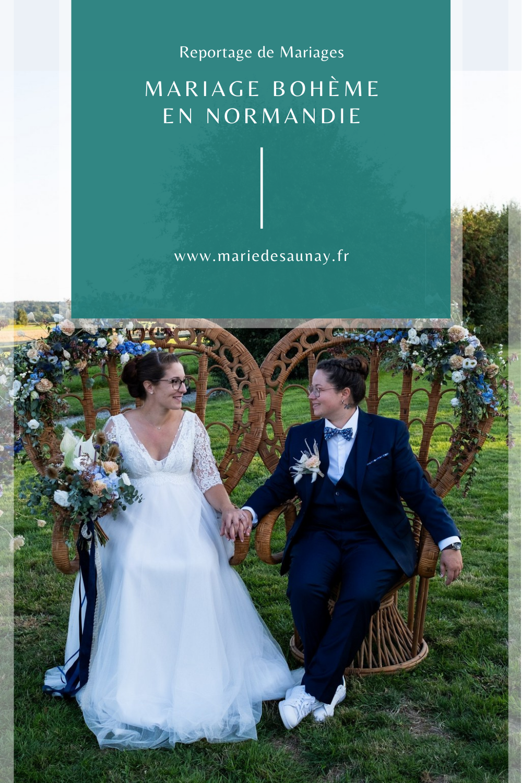 Mariage bohème en Normandie