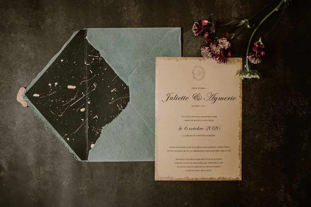 Papeterie de mariage sur-mesure - CREDIT PHOTO : Anne Letournel