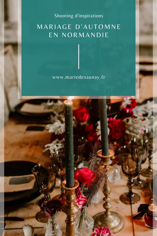 Inspiration : Mariage d'automne en Normandie