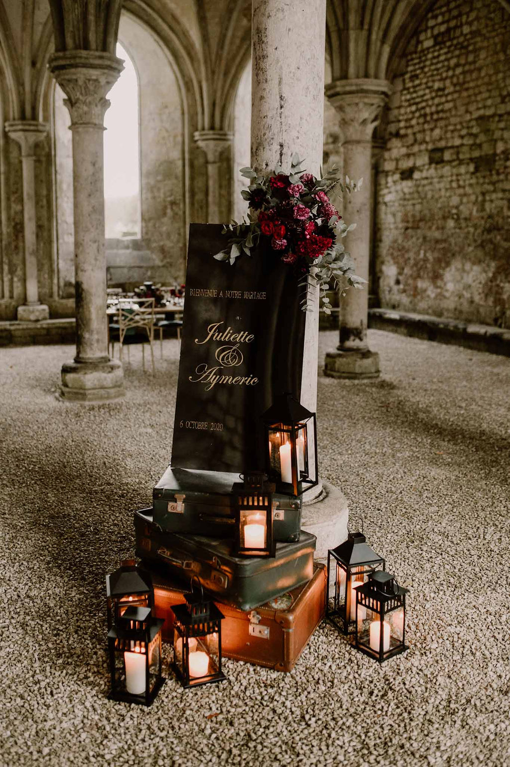 panneau de bienvenue mariage normandie - CREDIT PHOTO : Anne Letournel
