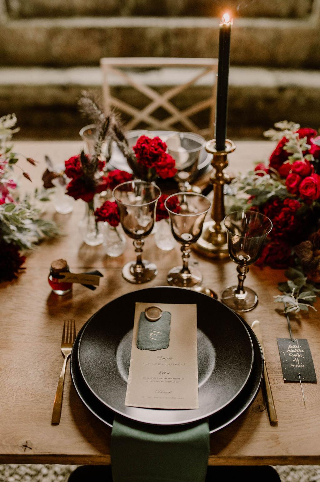 table de mariage  decoration de mariages  - CREDIT PHOTO : Anne Letournel