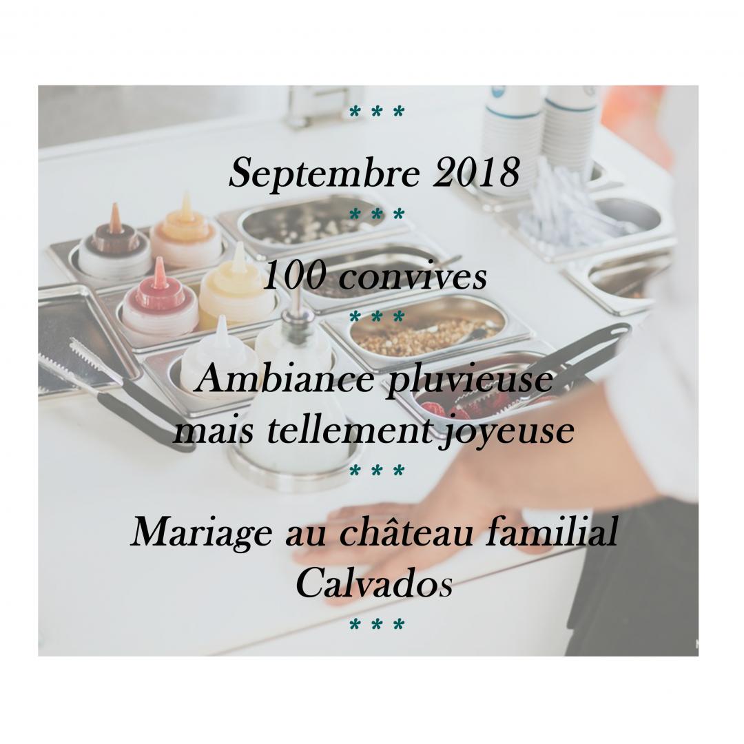 CAPUCINE ET DYLAN MARIGE SEPTEMBRE 2018 CALVADOS