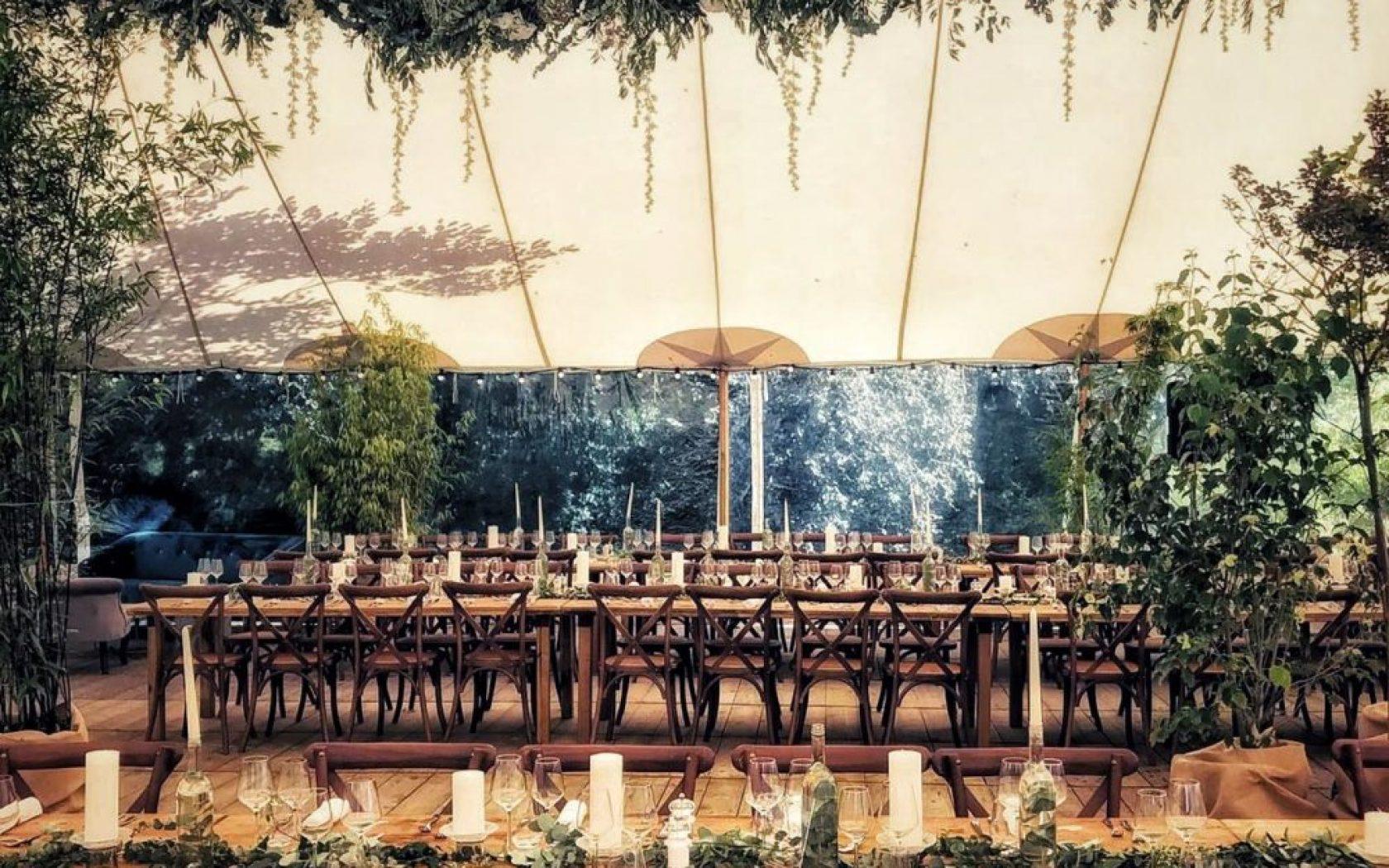 Décoration de mariage en Normandie dans une ambiance végétale
